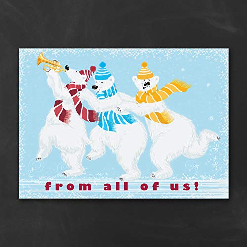 800pk Whimsical Polar Bears - Holiday Card-Budget