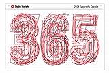 365 Studio Hinrichs Typography Calendar (2 Sizes Available) (2019 23''Lx33''W)