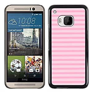 Planetar® ( Lines Summer Pink Horizontal Pattern ) HTC One M9 Fundas Cover Cubre Hard Case Cover