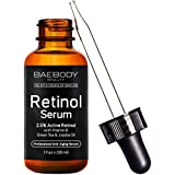 Baebody Retinol Serum 2.5% for Face, Professional Anti-Aging Topical Facial Serum, Anti-Wrinkle & Reduce Fine Lines, Clinical Strength Organic Ingredients w Vitamin E, Hyaluronic Acid, Jojoba Oil 1oz