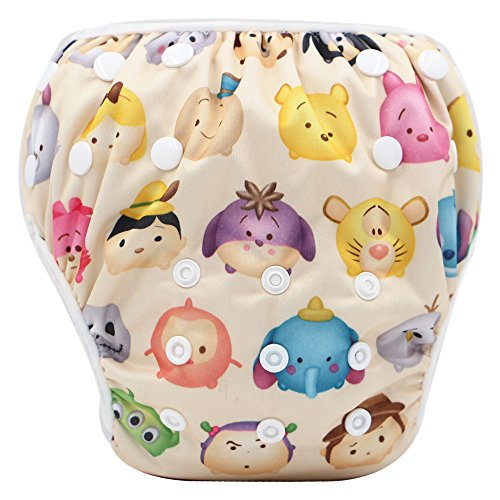 Storeofbaby Swim Diaper for Baby Boys and Girls Swimming Lesson Cute Pattern Print