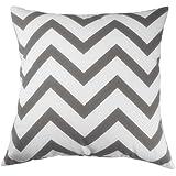 UOOPOO Canvas Cotton Chevron Design Decorative Cotton Canvas Pillow Cover 18 x 18 Inches Square Cushion Cover for Sofa One Side