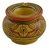 Ceramic Ashtrays Hand Made Moroccan smokeless Ceramic Vivid Colors Medium