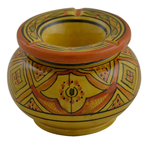 Ceramic Ashtrays Hand Made Moroccan smokeless Ceramic Vivid Colors - Pipe Smoke Clay