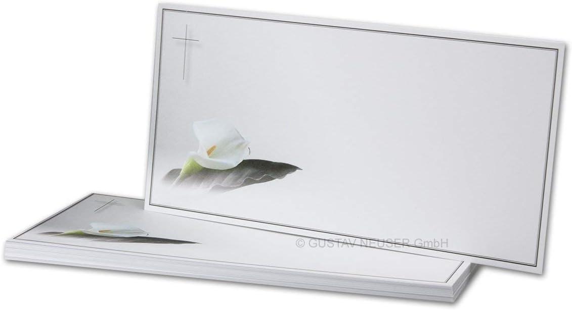 /Il Dolore Fiore////Matt////21/x 9,8/cm////Slot//condoglianze//Semplice carta DL bianco Il Dolore di singolo slot serie Calla/