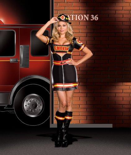 Smokin Hot Firefighter Halloween Costume (Smokin' Firefighter Adult Costume - Plus Size)