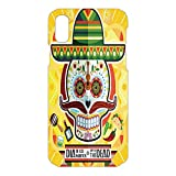 Phone Case Compatible 3D Printed 2018 Apple iPhone Xs MAX DIY Fashion Picture,Sugar Skull Tacos Chili Pepper November,Lovely Personalized Hard Plastic Phone Case Fashion Stylish