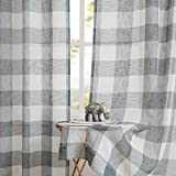Amzdecor Linen Sheer Curtains Panels Buffalo