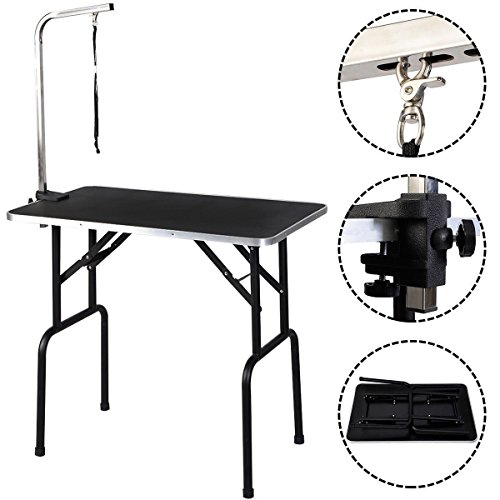 Eight24hours Adjustable 32'' Pet Dog Cat Grooming Table Top Foam W/Arm&Noose Rubber Mat New + FREE E-Book by Eight24hours