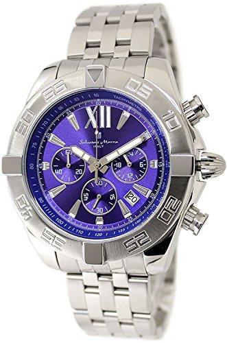 Salvatore Marra Chronograph Watch Men's SM14121-SSBL