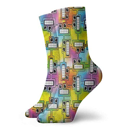 Casual Chaussette Femme Colorful,Fun Characters Pattern 3.4