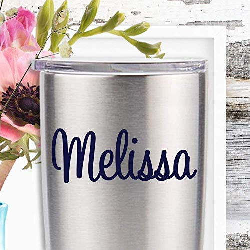 (Script Name Decal to Personalize Your Yeti Tumblers Laptops MacBooks and More)