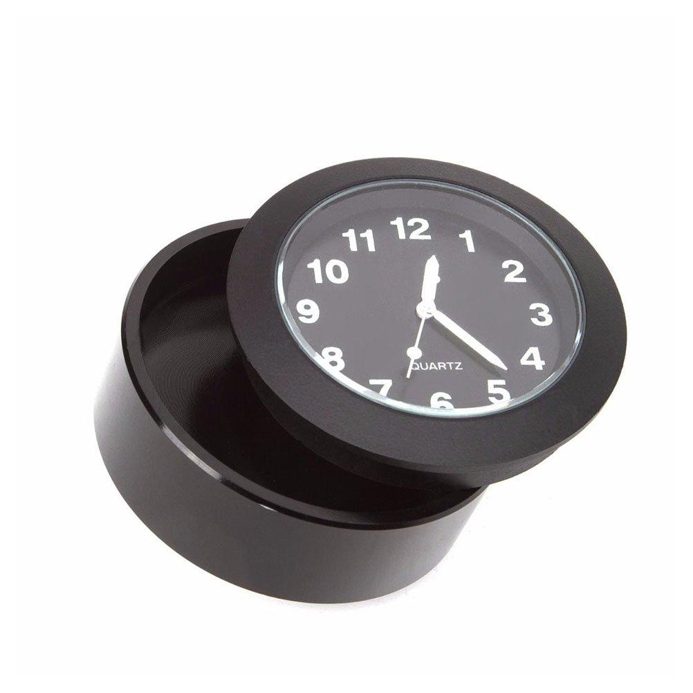 LUOEM Orologio per Moto Manubrio 7//8 di Pollice a 1 Pollice Impermeabile Nero