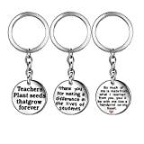 Best Chain With Gift Bags - 3Pcs Teacher Appreciation Gift Key Chain Ring Jewelry Review