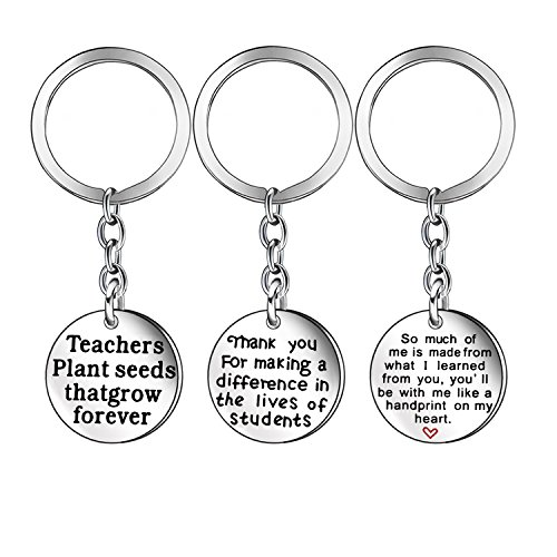 Teacher Appreciation Gift Keychain Key Chain Ring Christmas Jewelry for Teacher Mom Dad (1)