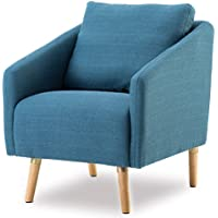 BONZY Accent Chair Mid-Century Style for Living Room Durable Frame - Navy