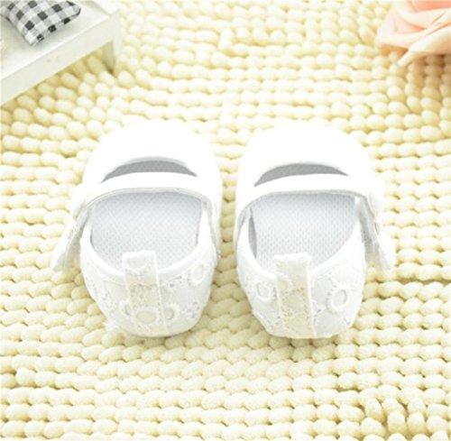 Zapatos de bebé,Tongshi Bebé Bordado Bowknot Niño Suave Suela Zapatos (0~6 Month, Blanco)