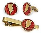Shazam Tie Clip, Captain Marvel Cufflinks, DC