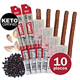 CHOMPS Grass Fed Beef Jerky Meat Snack Sticks | Keto Certified, Whole30 Approved, Paleo, Low Carb, High Protein, Gluten Free, Sugar Free, Non-GMO | 100 Calorie 1.15 Oz Stick, Original Beef 10 Pack Larger Image