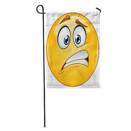 Amazon com : Semtomn Garden Flag Emoji Oops Emoticon Nervous