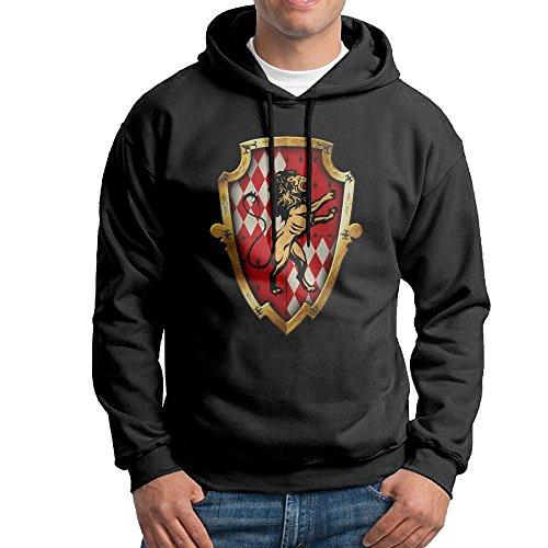 Hogwarts School Gryffindor Crest Black Boys Casual Sweatshirts