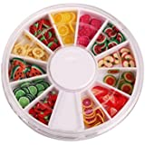 StaiBC Nailart Tools 144pcs 3D FIMO Slice Fresh Fruit Face Decoration