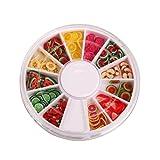 DGI MART Nailart Tools 144pcs 3D FIMO Slice Fresh Fruit Face Decoration
