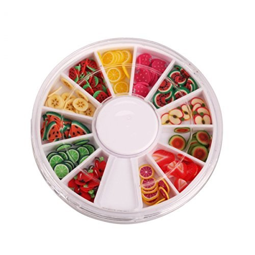 StaiBC Nailart Tools 144pcs 3D FIMO Slice Fresh Fruit Face Decoration UURABREQCD Baile00378
