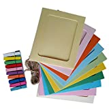 Gotd 10pcs Wall Deco DIY Creative Mini Paper Photo Frame With Mini Colored Clothespins And Twine -Fit Instax Mini Film, 3 inch
