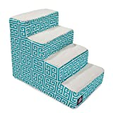 4 Step Portable Pet Stairs By Majestic Pet Products Pacific Towers Steps for Cats and Dogs Blue Teal