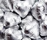 Silver Foiled Milk Chocolate Hearts 5LB Bag (five pound) by The Nutty Fruit House
