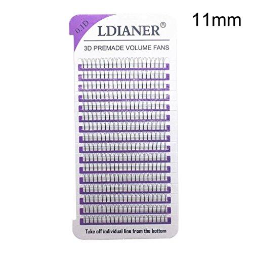 False Eyelashes,Toimoth Clearance Women Lashes Wave Mink 0.1D Eyelashes Extension for Eye makeup (D/11mm) ()