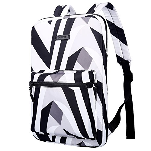 Cartinoe Slim Sleeve Case Style Laptop Backpack Business Travel Backpack College Backpack Computer Backpack Casual Daypack School Bookbag for Teenage Girls Boys fit 15 15.6 inch Laptop -Zebra-Striped