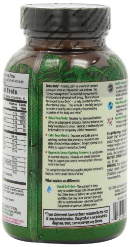 Irwin Naturals Stress-Defy, Balanced Relaxed Calm, Stressful Day Neutralizer, 84 Liquid Softgels by Irwin Naturals (Image #5)'