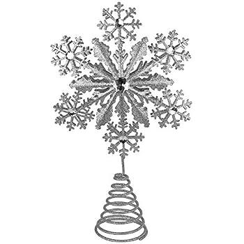 J8971 Kurt Adler Tin and Plastic Jewel Snowflake Treetop Kurt S Adler Inc