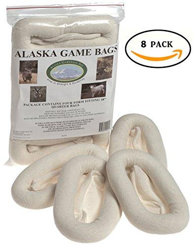Alaska Game Deer, Antelope and Sheep Bags, 48-Inch (Two 4 packs)