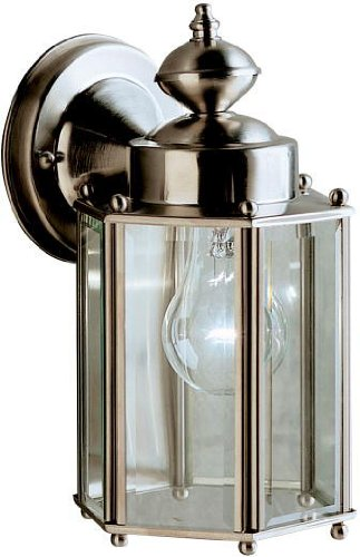 Kichler 9618SS Patio Wall Sconce Lantern Outdoor Lighting, Stainless Steel 1-Light (6