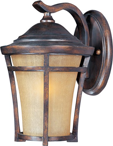 Maxim 40164GFCO Balboa VX 1-Light Outdoor Wall Lantern, Copper Oxide Finish, Golden Frost Glass, MB Incandescent Incandescent Bulb , 100W Max., Dry Safety Rating, Standard Dimmable, Glass Shade Material, 5750 Rated Lumens
