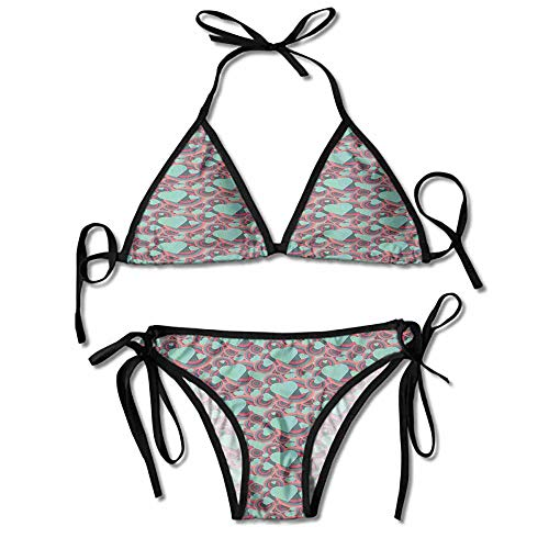 Bullseye Tattoo Designs - Bikini Swimsuit 2 Pieces Set,Bullseye Circles and Love Sexy Bikini 2 Pieces