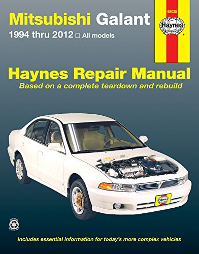 Mitsubishi Galant 1994 Thru 2012  All Models  Haynes Repair Manual