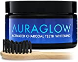 #4: AuraGlow Activated Charcoal Teeth Whitening Powder Natural + Bamboo Toothbrush, 60g