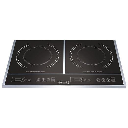 Amazon.com: Eurodib doble cocina de inducción, 23 1/2 x 14 1 ...