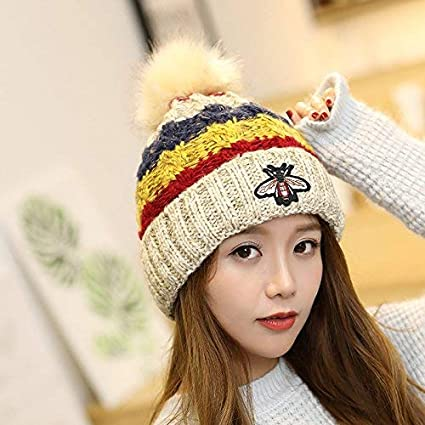 0ac98fcc102f1 FRGVSXZCX Casquillo de los Sombreros de Moda Sombrero de Lana para Damas  otoño Invierno Sombrero Creativo