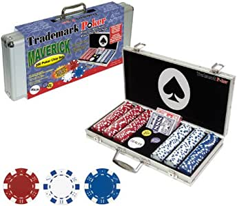 Trademark Poker Maverick Dice Style Poker Chip Set