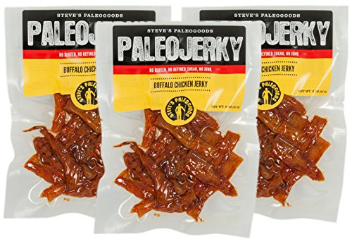 Steve's PaleoGoods, PaleoJerky Buffalo Chicken, 2 oz (Pack of - Chicken Buffalo