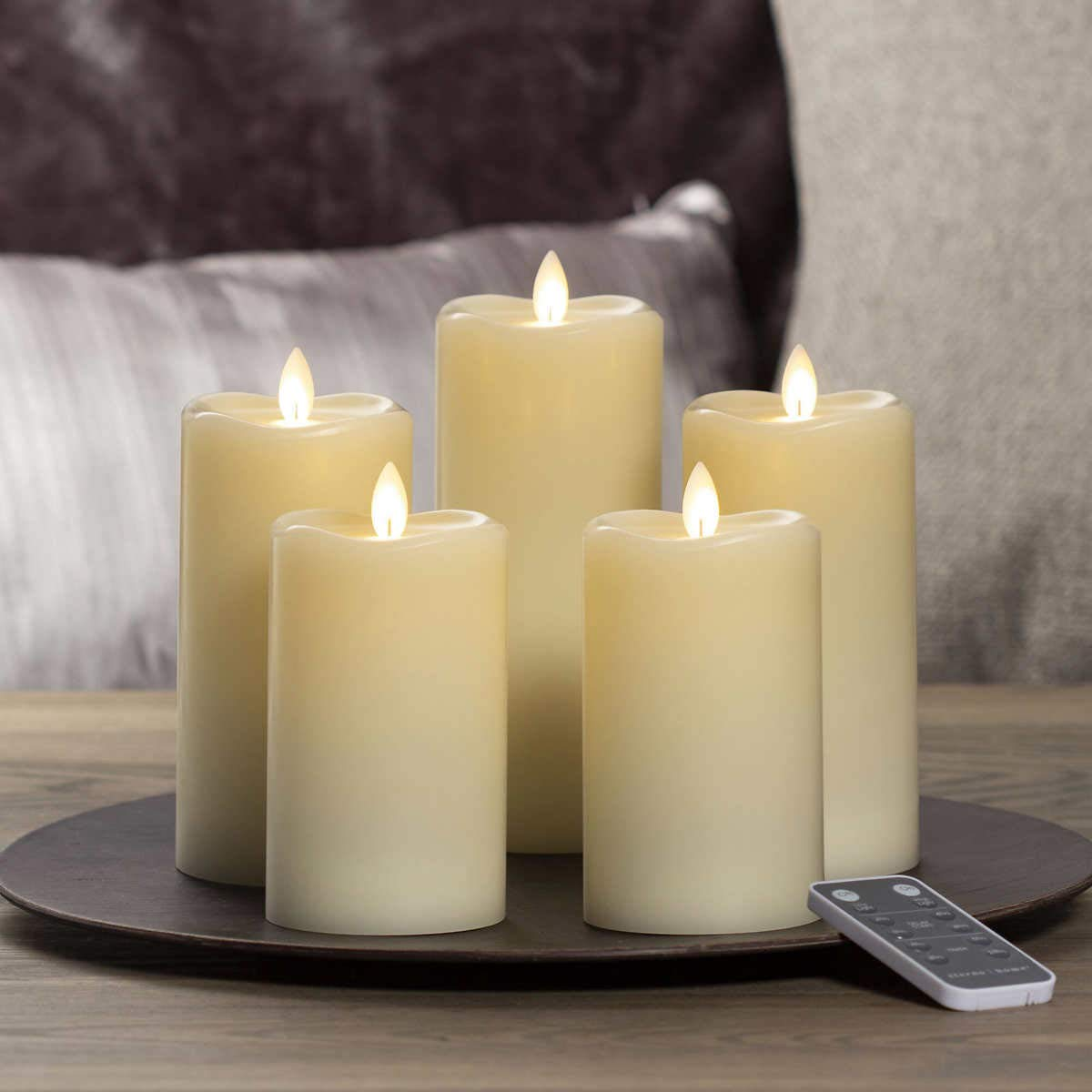 Sterno Home LED Moving Flame Candle, 5-Piece Set by Raysark