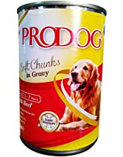 PRODOG Wet Food For Dogs Soft Chunks in Gravy Beef - 415g