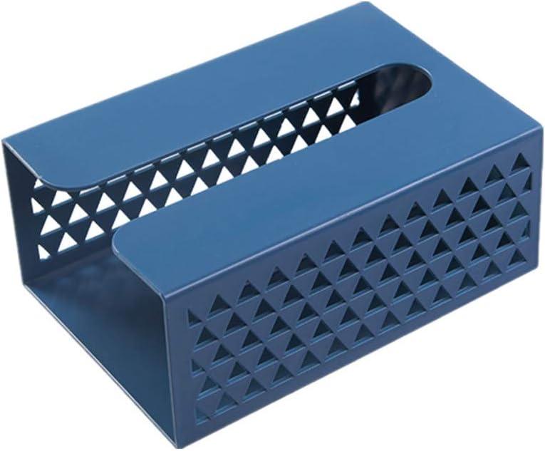 Cajas para pa/ñuelos de Papel Caja de pa/ñuelos Cajas de pa/ñuelos Soporte de Caja de pa/ñuelos Caja de pa/ñuelos Cubre Cubo Tejido Caja Blue