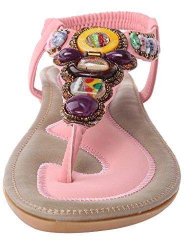 Vogstyle La Mujer Hechos A Mano Patrón Multicolor De Cuero Zapatos Estilo 4 Negro EU35-35.5/CH36 5vFhZGW8