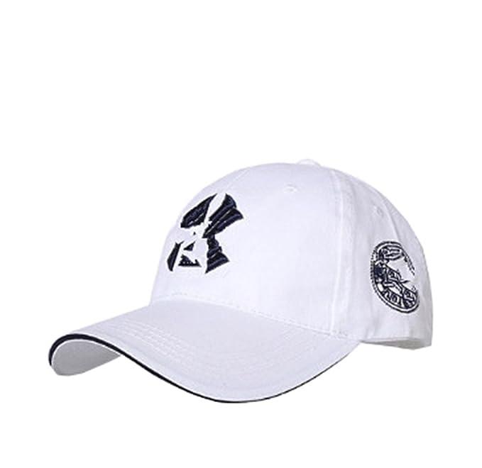 Cappellini da Baseball Uomo Ragazzi Cappelli Donna Ragazze Berretto da Sole  Cotone Tinta Unita Estivo Cap Sportivo Outdoor Tempo Libero Per Lovers  (bianco)  ... cc2c8417e828